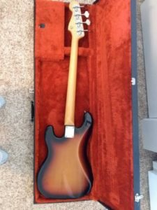 1982 Squier JV Precision Bass back