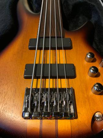 , Ibanez Workshop SRF705 Portamento Bass Guitar, Best In Bass Guitars .Com
