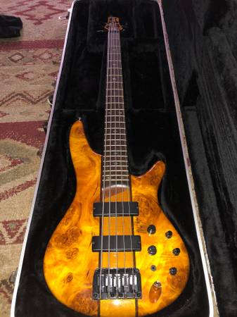 , IBANEZ 5 STRING FRETLESS BASS SRH505F, Best In Bass Guitars .Com