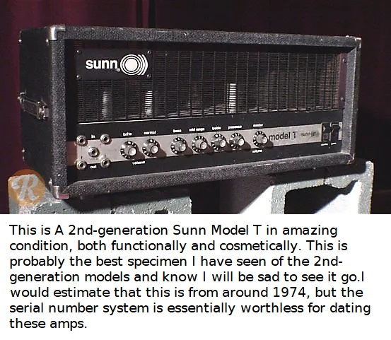 SUNN MODEL T BASS AMP